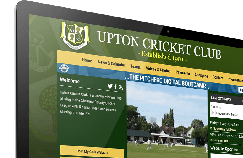 Upton CC's Pitchero homepage