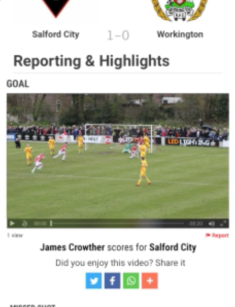 A portrait iPad screen showing the Evo-Stik league homepage, currently playing a Pitchero Play video