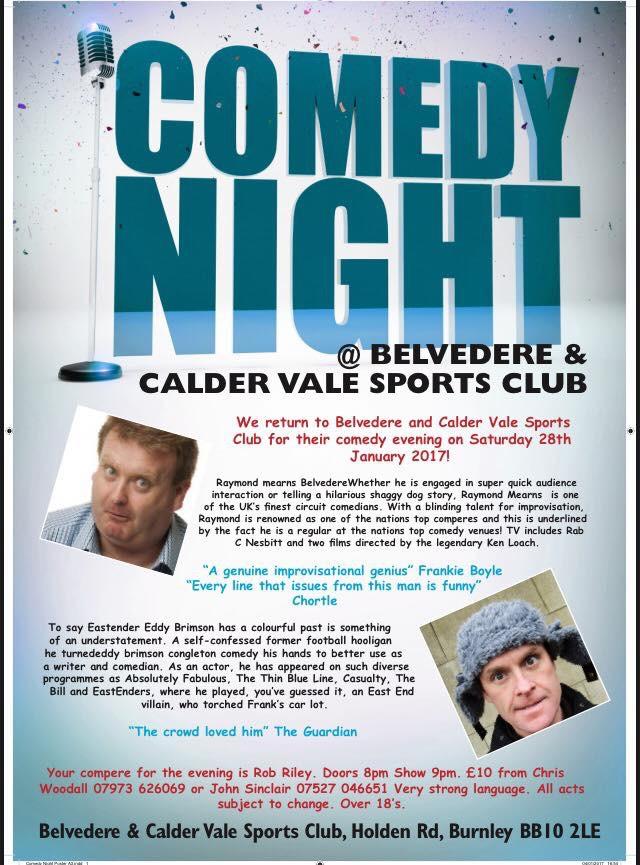 Comedy night - Burnley RUFC