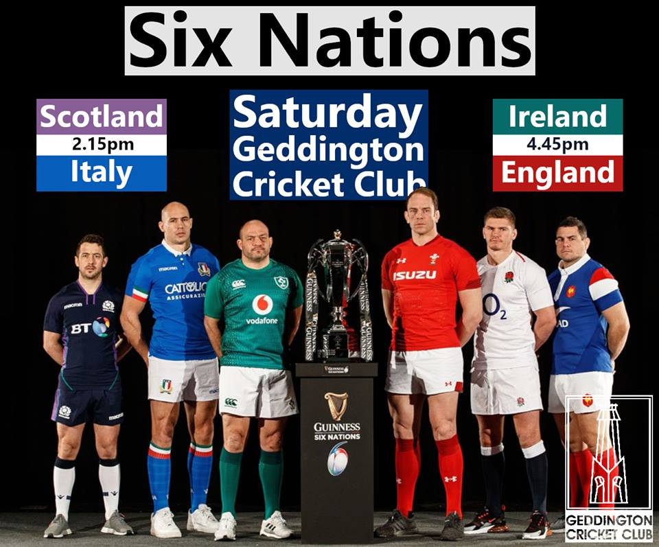 c2e5c3a6a0a Live Six Nations Rugby Union - Saturday 2nd February 2019 ...